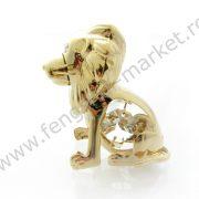 Pui de Leu cu Cristale Swarovski - placat cu Aur 24K