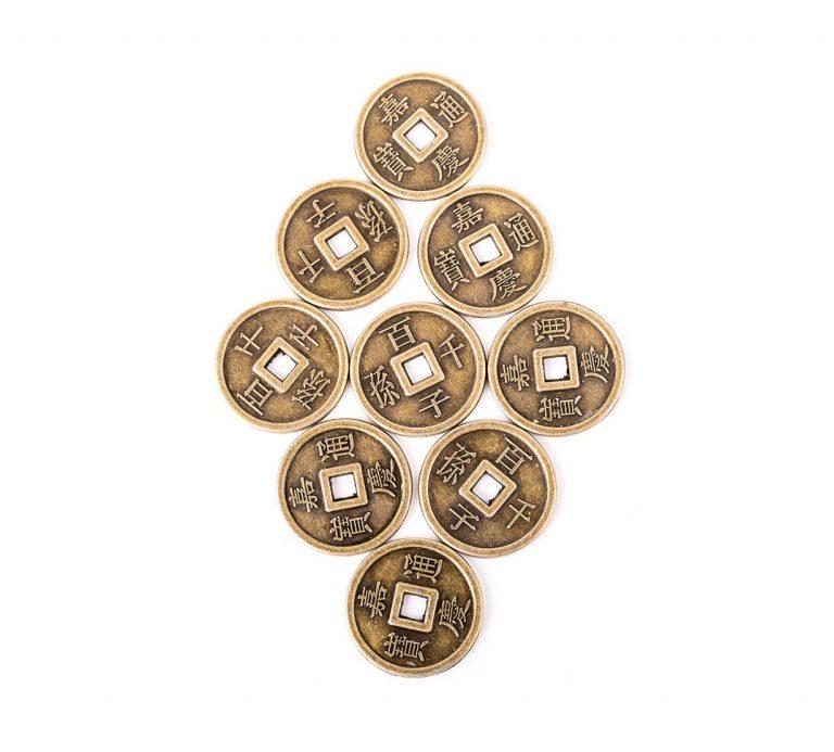 Set 9 Monede I - Ching - metal - model 3