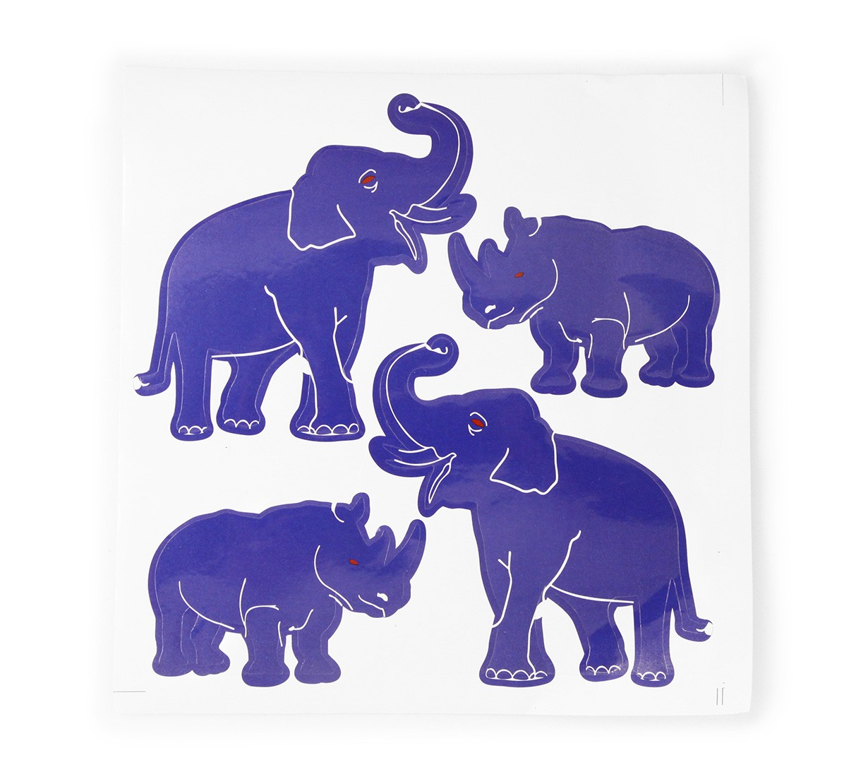 Elefant si Rinocer - Contra Furturilor - autocolant
